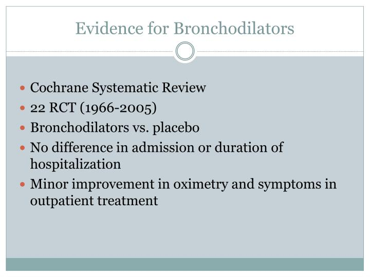 Evidence for Bronchodilators
