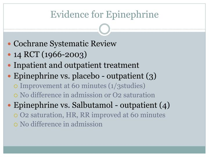 Evidence for Epinephrine