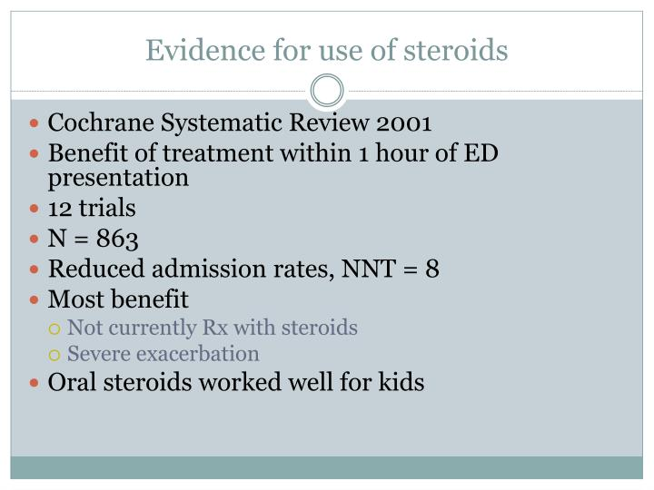 Evidence for use of steroids