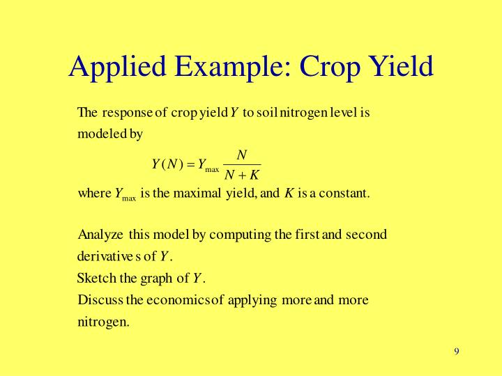 Applied Example: Crop Yield