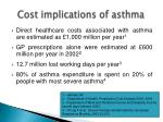 cost implications of asthma