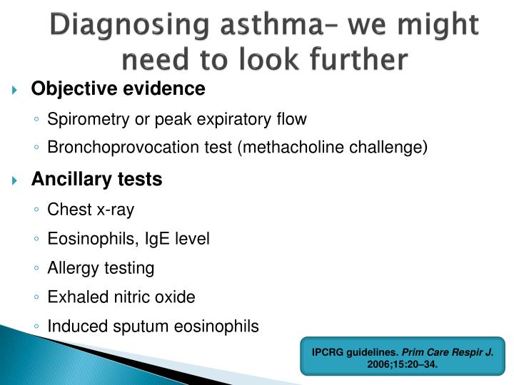 Diagnosing asthma– we might need to look further