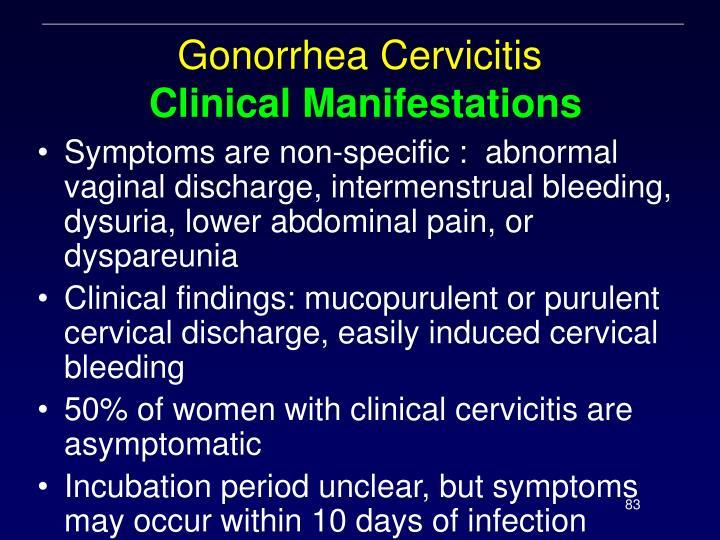 Gonorrhea Cervicitis