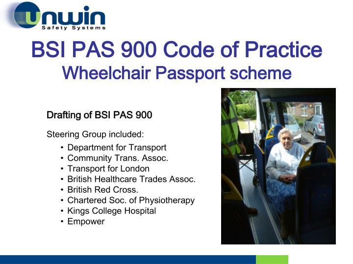 BSI PAS 900 Code of Practice
