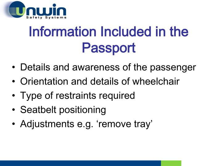 Information Included in the Passport