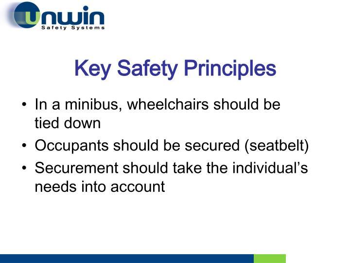 Key Safety Principles