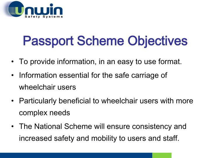 Passport Scheme Objectives