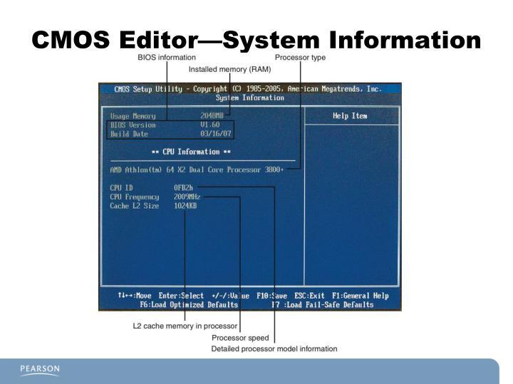 CMOS Editor—System Information
