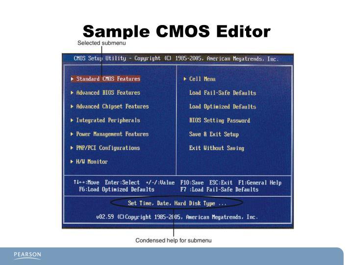 Sample CMOS Editor
