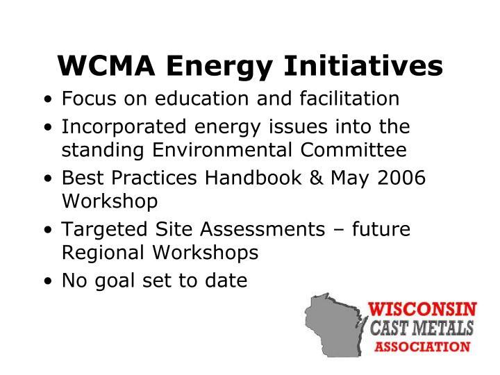 WCMA Energy Initiatives