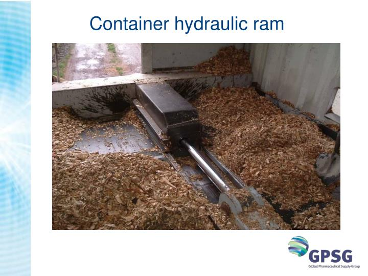 Container hydraulic ram