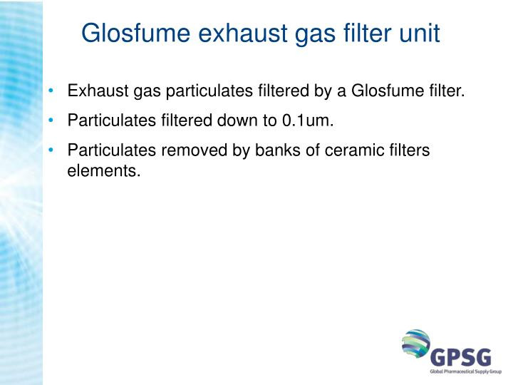 Glosfume exhaust gas filter unit