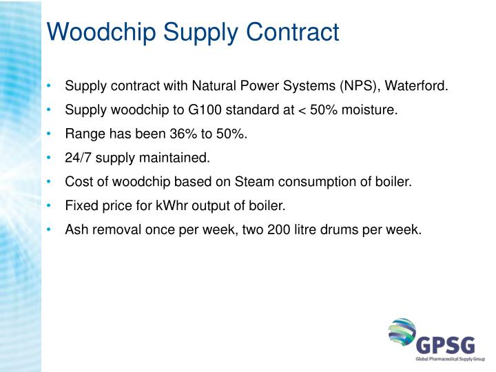 Woodchip Supply Contract