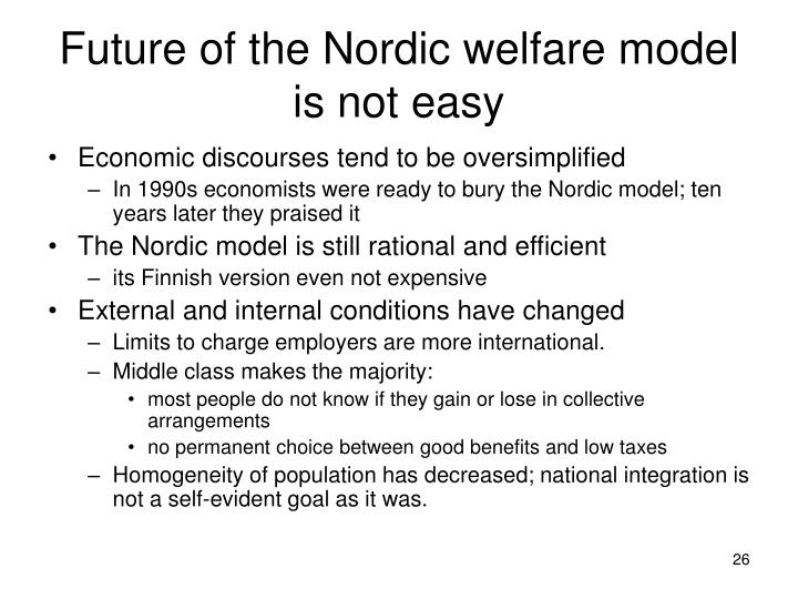 Future of the Nordic welfare model is not easy