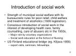 introduction of social work