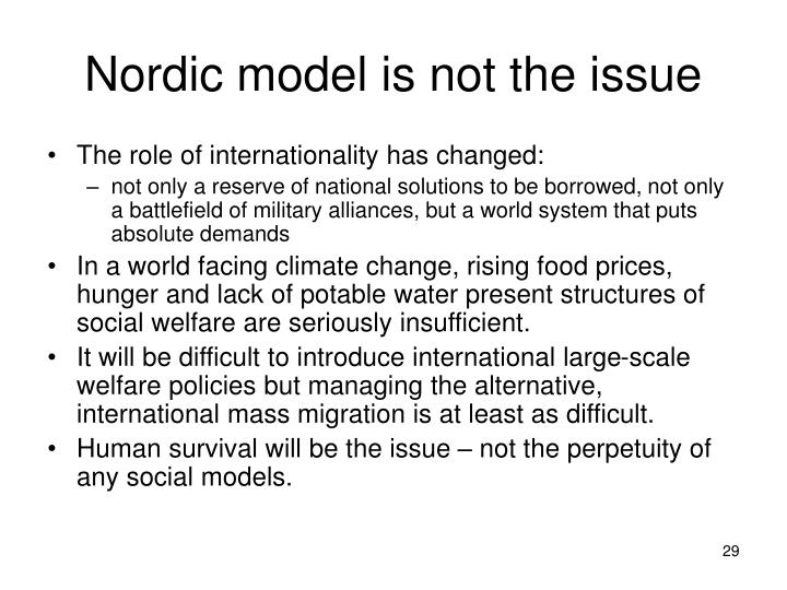 Nordic model is not the issue