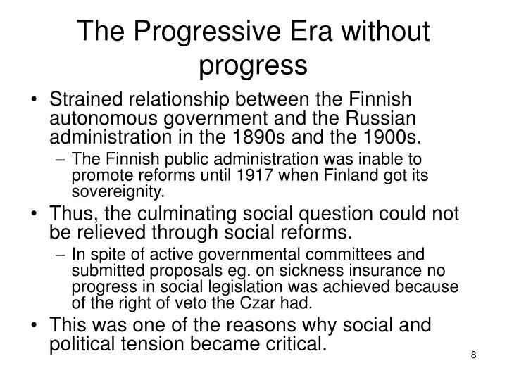 The Progressive Era without progress