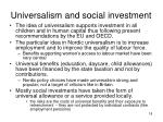 universalism and social investment