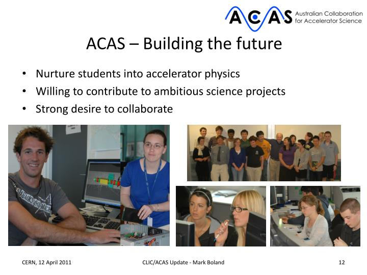 ACAS – Building the future
