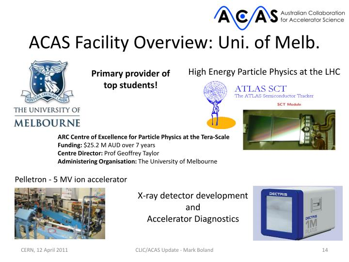ACAS Facility Overview: Uni. of