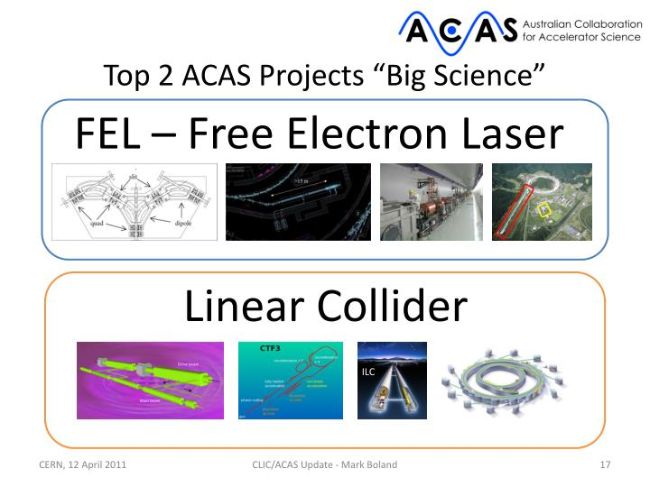 "Top 2 ACAS Projects ""Big Science"""