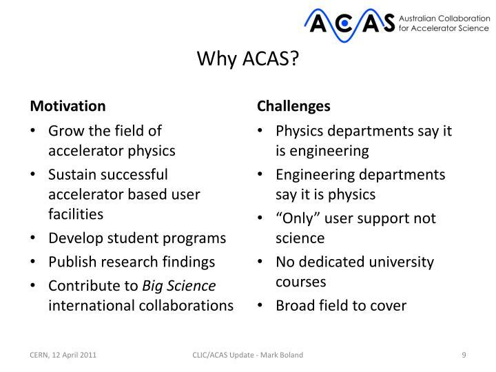 Why ACAS?