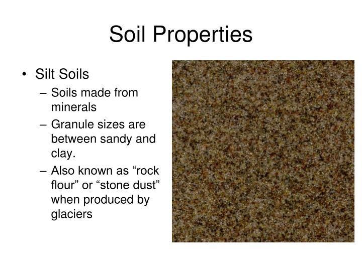 Silt Soils