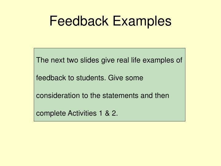 Feedback Examples