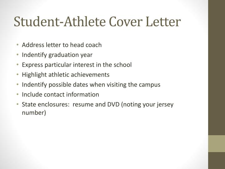 Student-Athlete Cover Letter