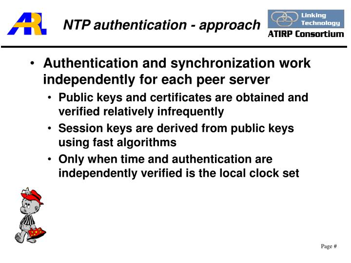NTP authentication - approach