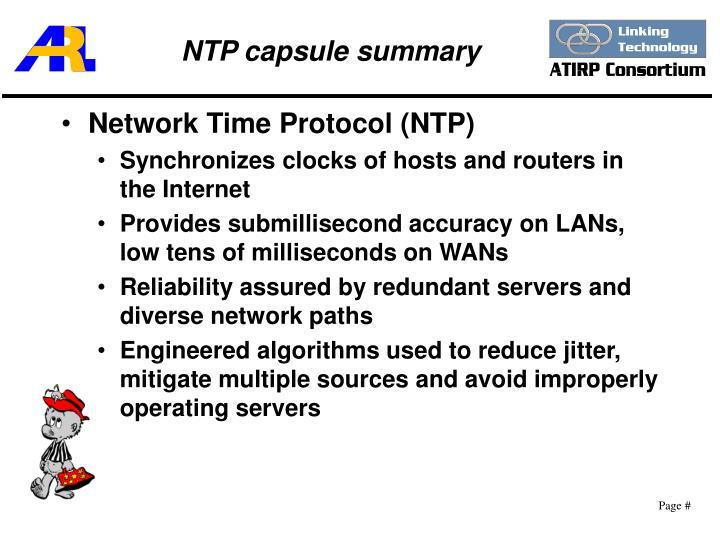 NTP capsule summary