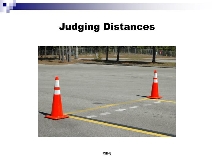 Judging Distances