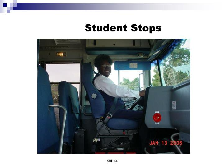 Student Stops
