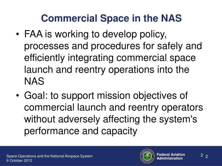 Commercial Space in the NAS