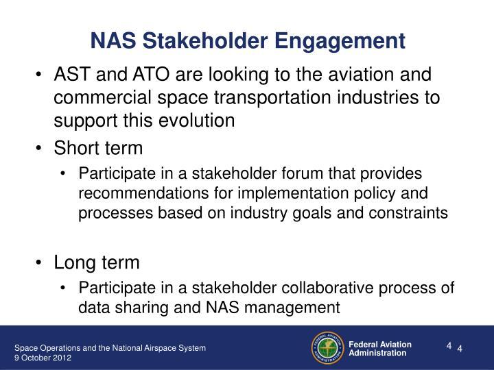 NAS Stakeholder Engagement