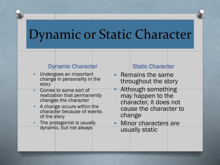 Dynamic or Static Character