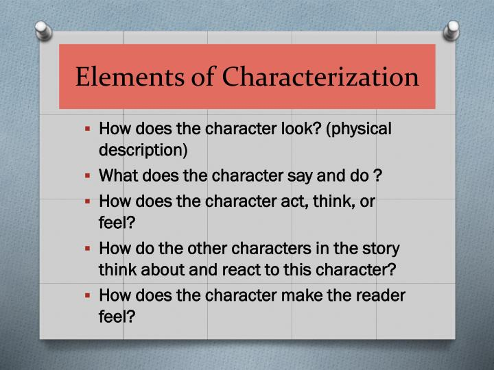 Elements of Characterization