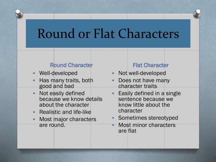 Round or Flat Characters