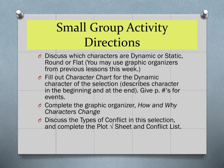 Small Group Activity Directions