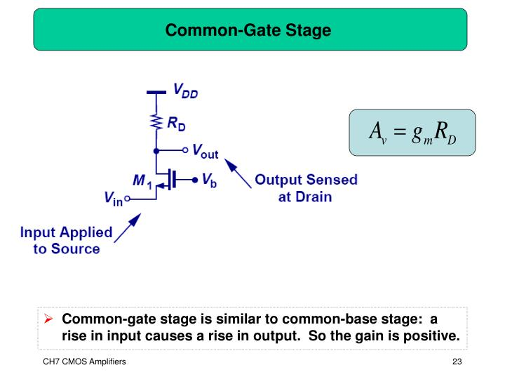 Common-Gate Stage
