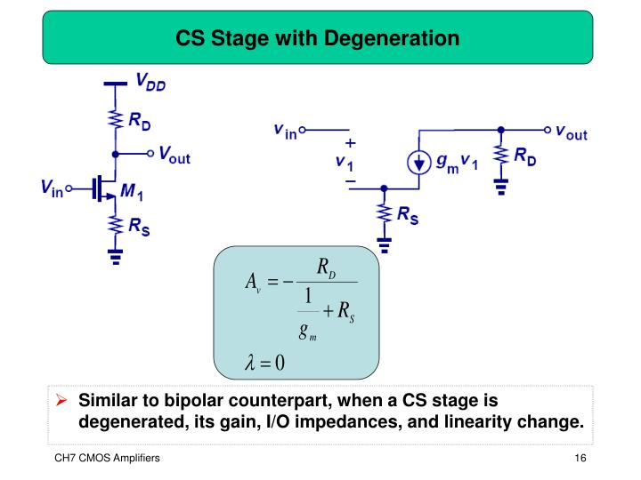 CS Stage with Degeneration