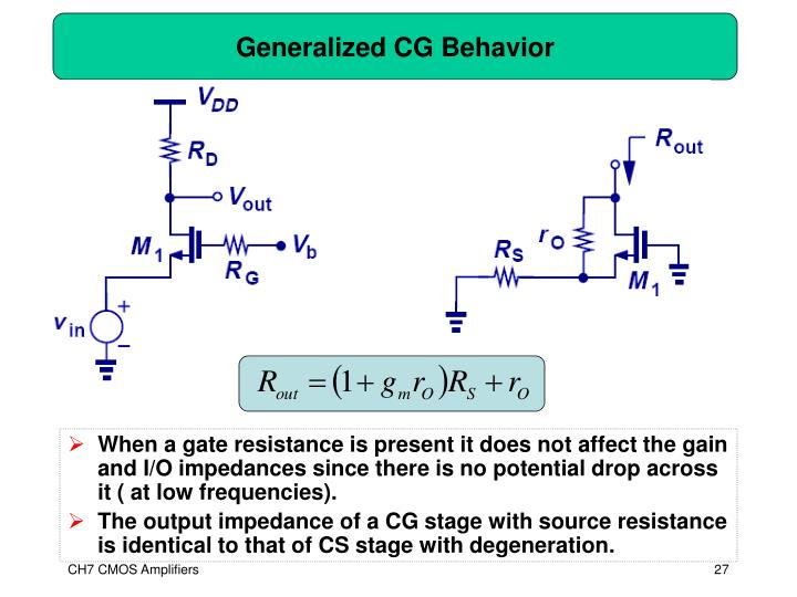 Generalized CG Behavior
