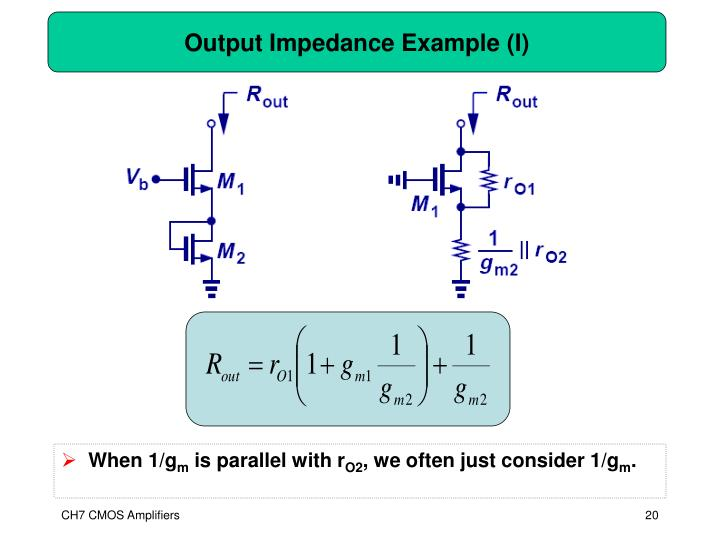 Output Impedance Example (I)