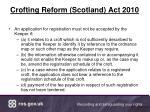 crofting reform scotland act 2010