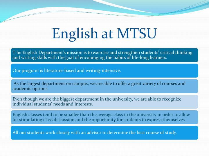 English at MTSU