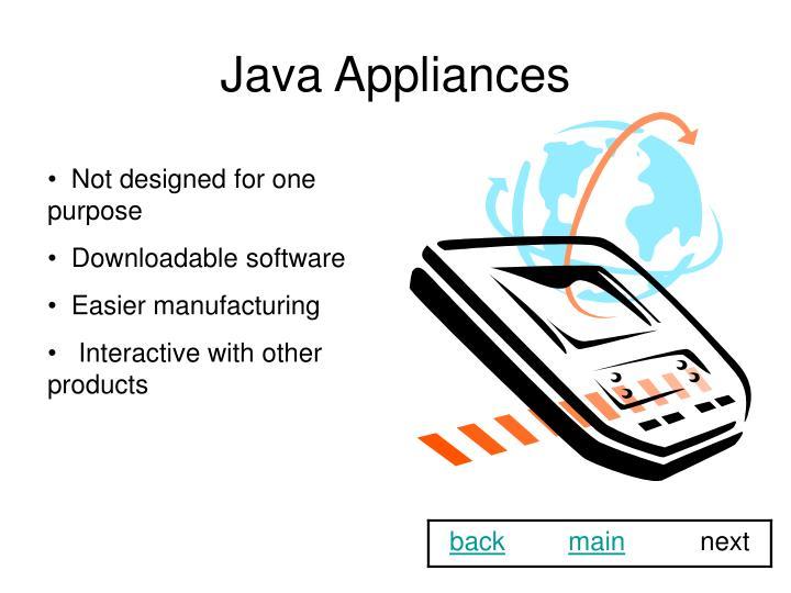 Java Appliances