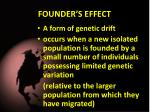founder s effect
