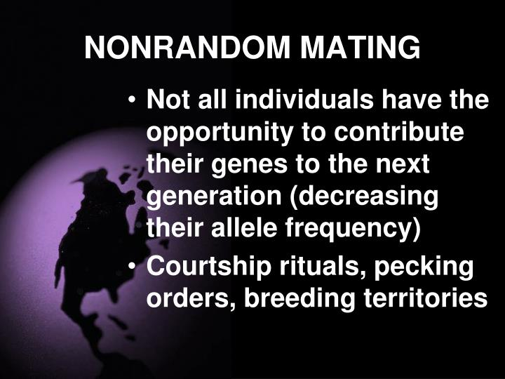 NONRANDOM MATING
