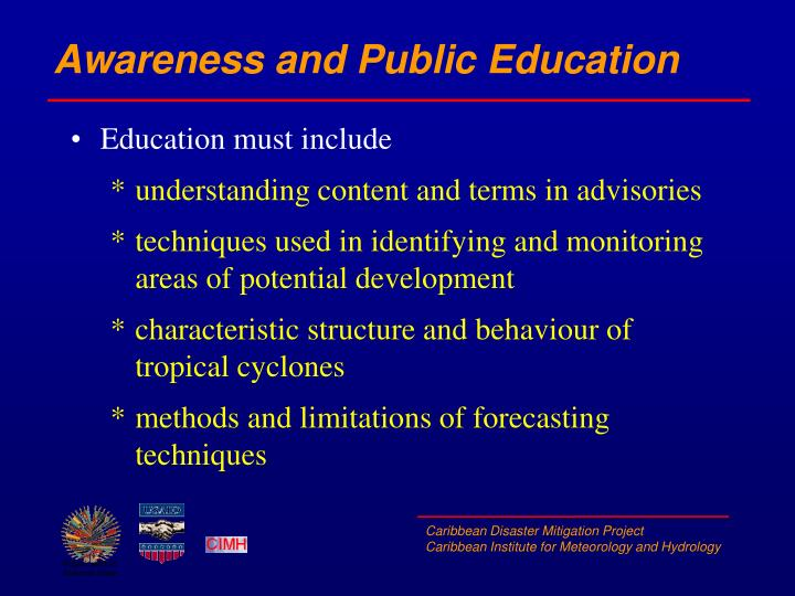 Awareness and Public Education