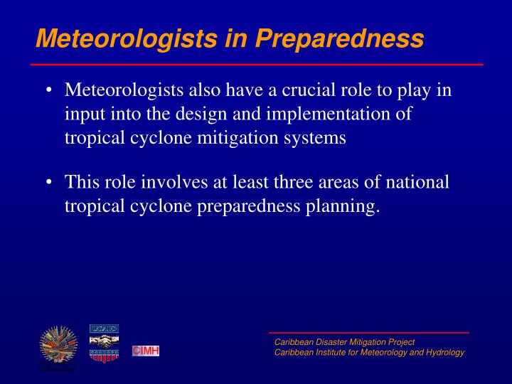 Meteorologists in Preparedness